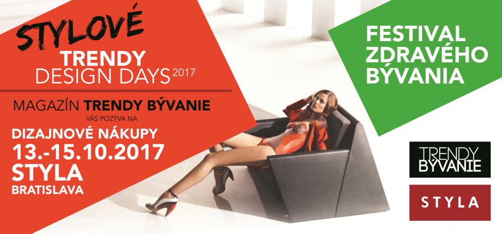 STYLOVÉ TRENDY DESIGN DAYS 2017 – PROGRAM.