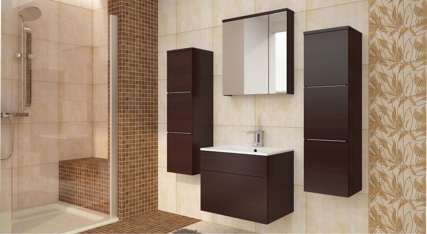 Hnedá kúpeľňa - obklad z keramiky