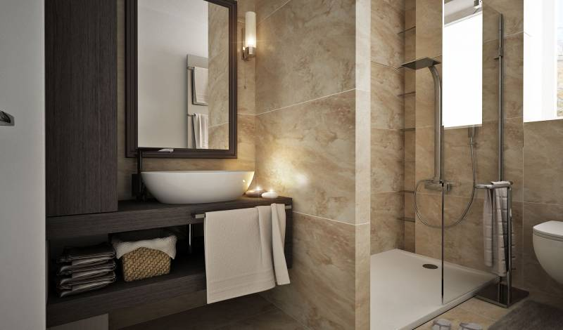 Kúpeľňa - obklad z kameňa