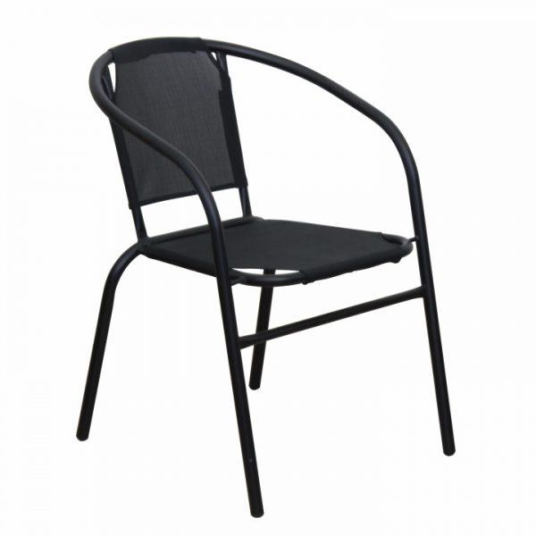 Stohovateľná stolička, tmavosivá/sivá, LESTRA
