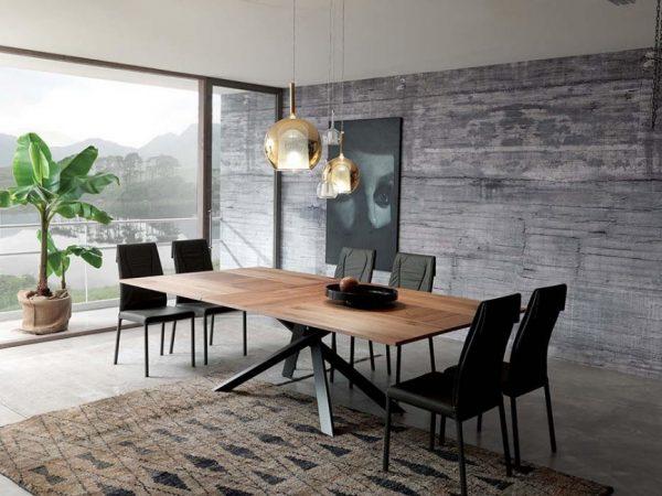 Netradičný rozkladací jedálenský stôl 4x4