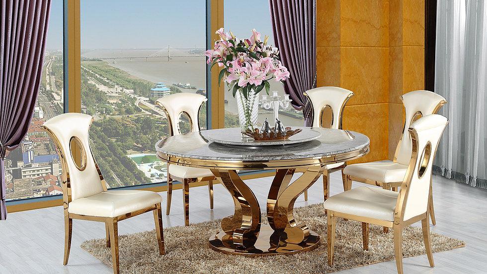 Mramorový jedálenský stôl GOLDEN