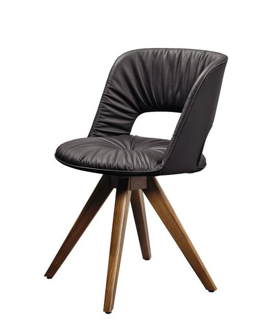 Jedálenská stolička koža masív Hulsta