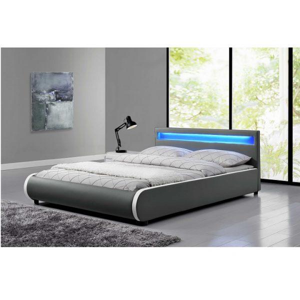 Manželská posteľ s RGB LED osvetlením DULCEA