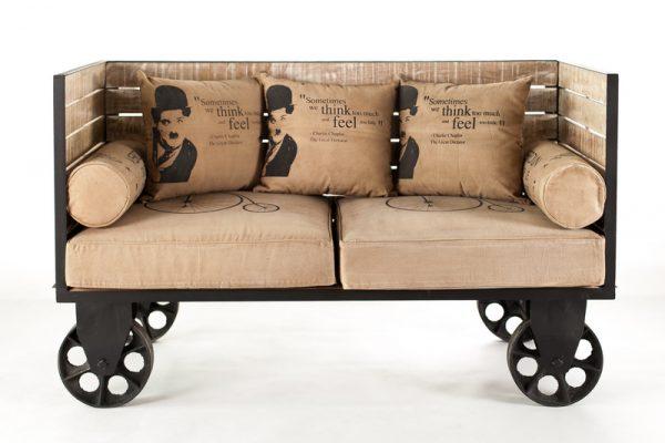 Dizajnová Sofa Charlie Chaplin 155x63x91 AKCIA -40%
