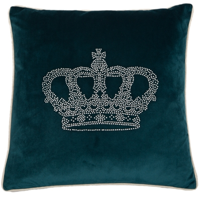 Zamatový vankúš Crown