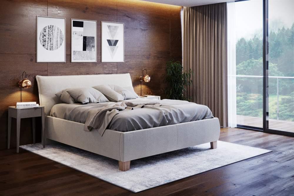 minimalisticka manzelska postel styla
