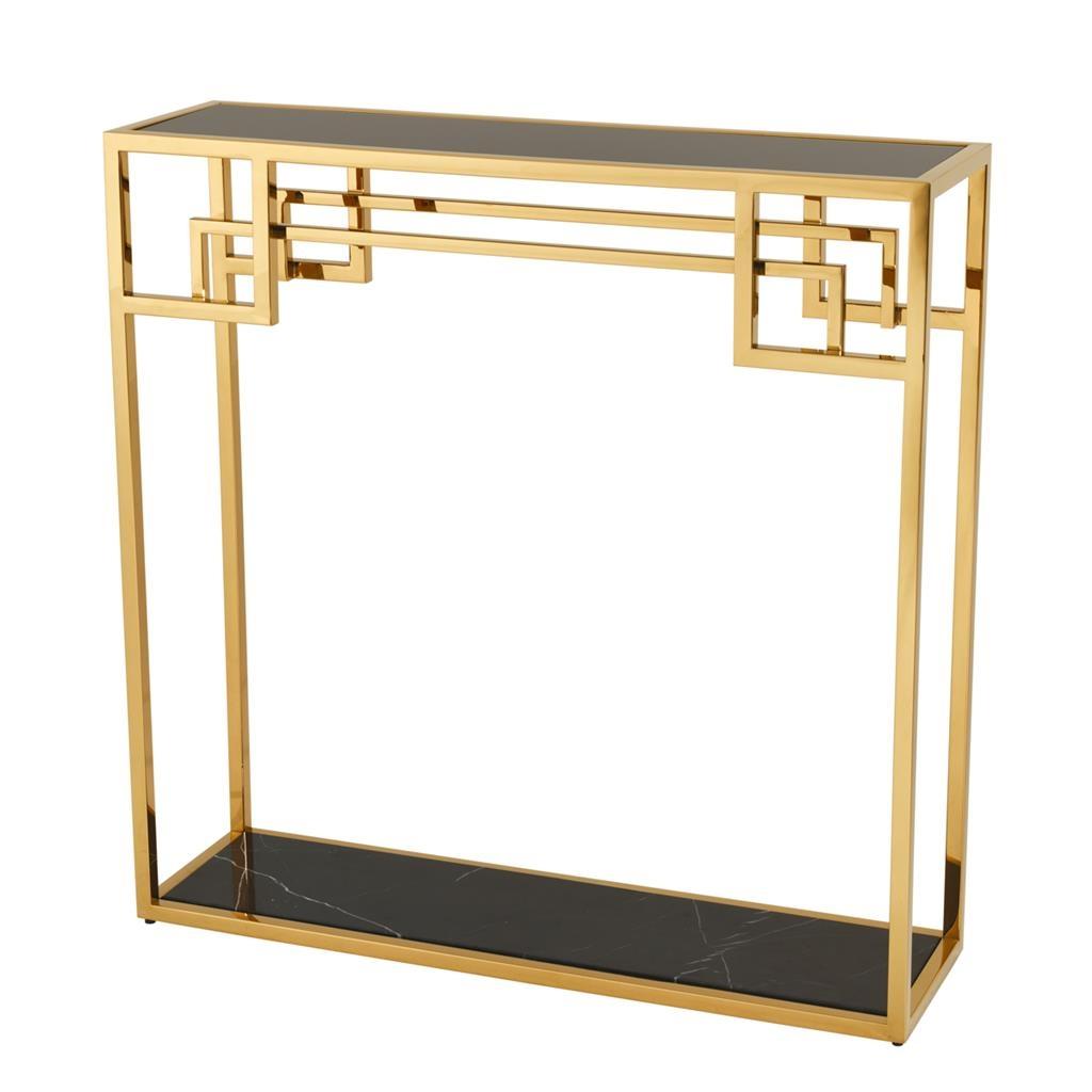 Zlatý konzolový stolík Morris