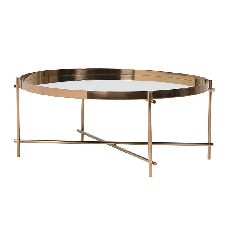 Zlatý konferenčný stolík