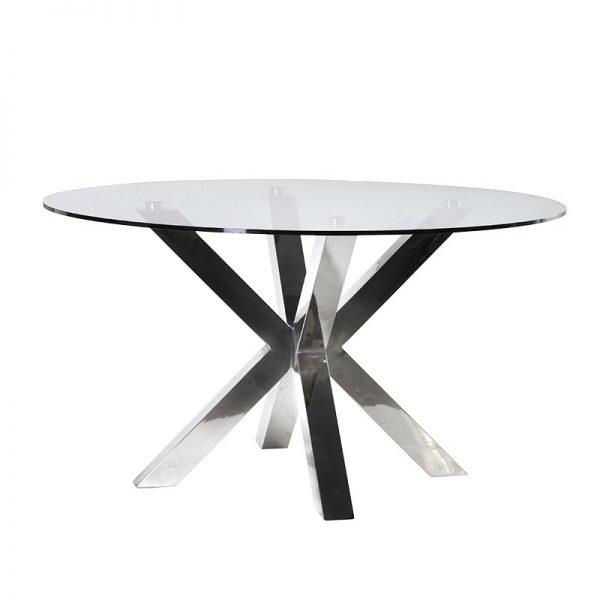 Okrúhly jedálenský stôl Luxury Chrome