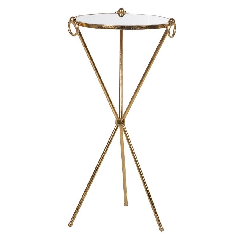 Zlatý príručný stolík