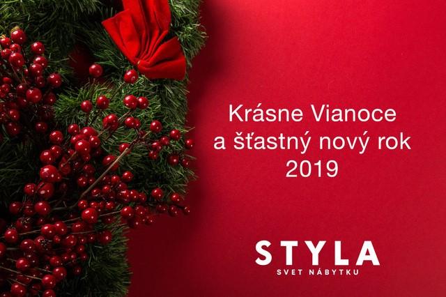 Príjemné prežitie vianočných sviatkov a šťastný nový rok 2019