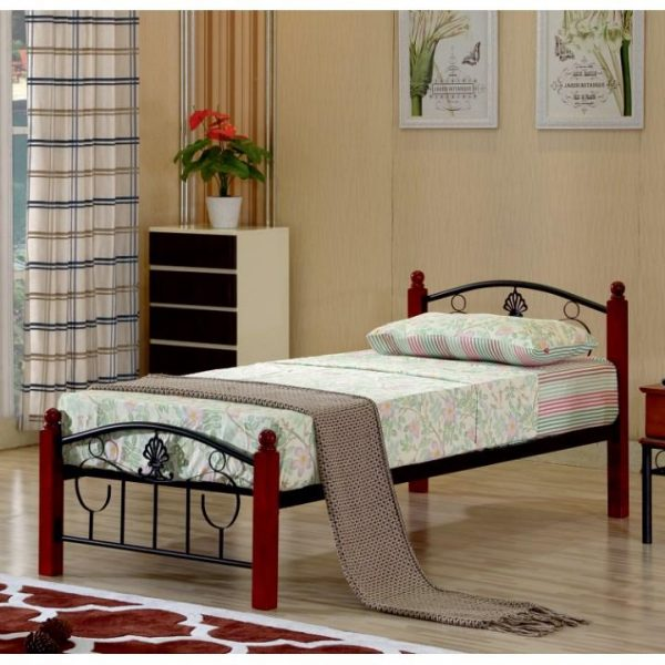 Kovová posteľ s roštom, 90x200, MAGENTA