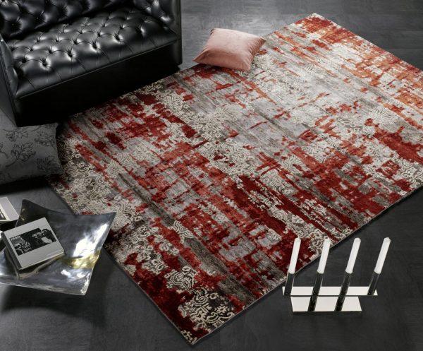 Luxusný 3D koberec Signatur Fusion 656 červený