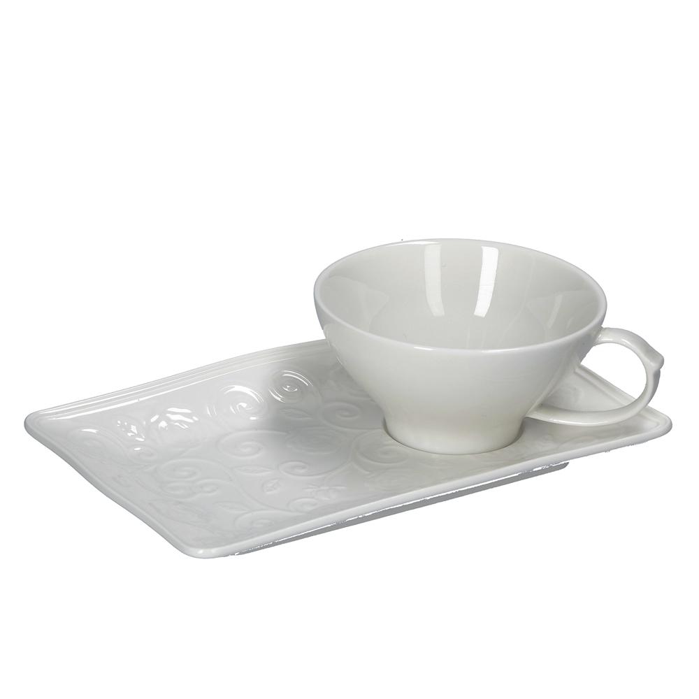 Florentina - čajová šálka s tanierikom na koláčik