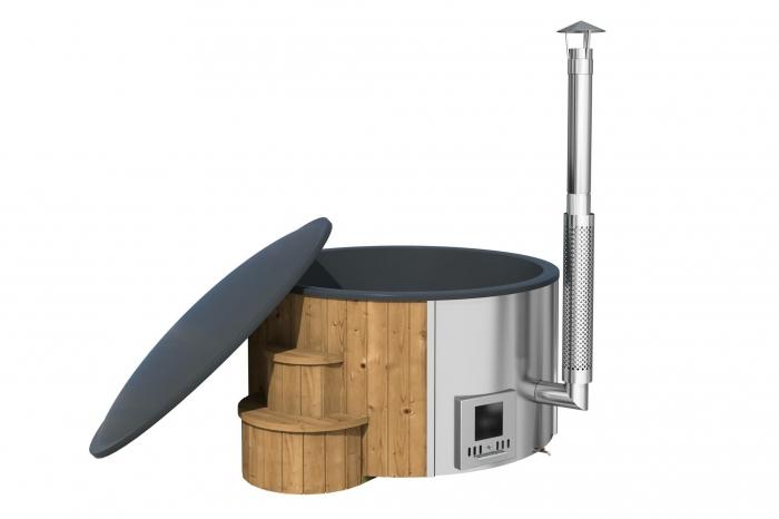 Kúpací sud HOT TUB DLX so sivou vložkou, 6-8 osôb, 200cm