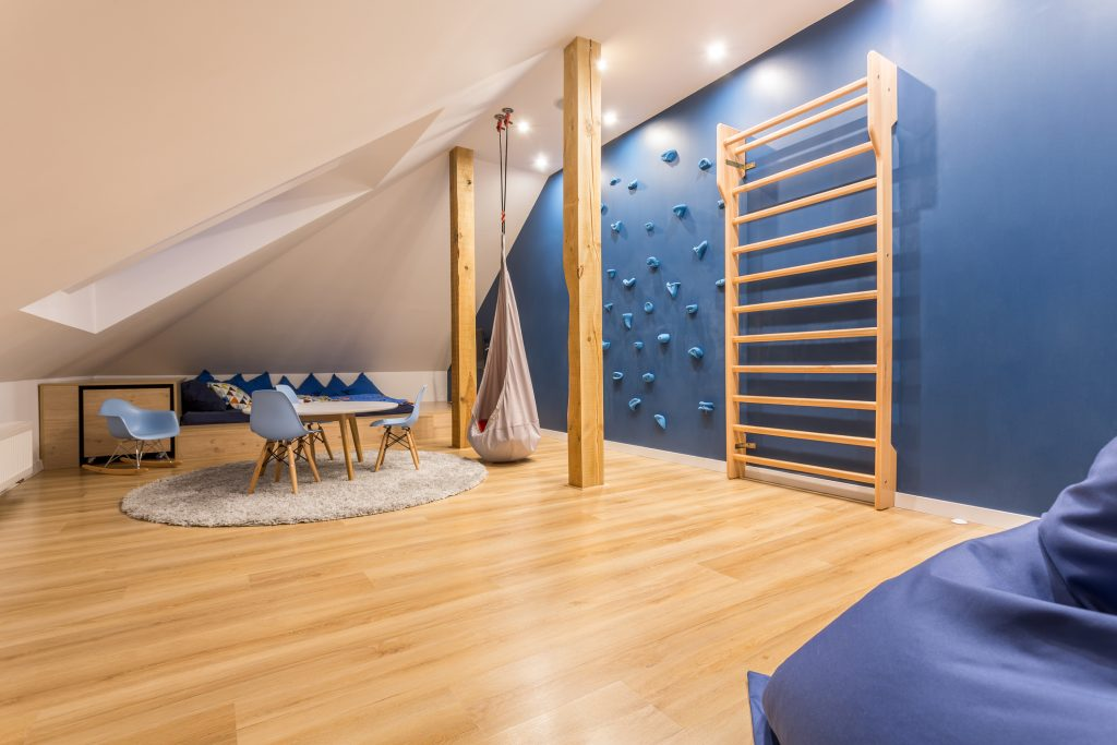Children room with climbing wall