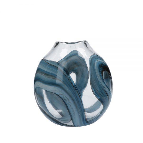 Sklenená váza Fluido Waves