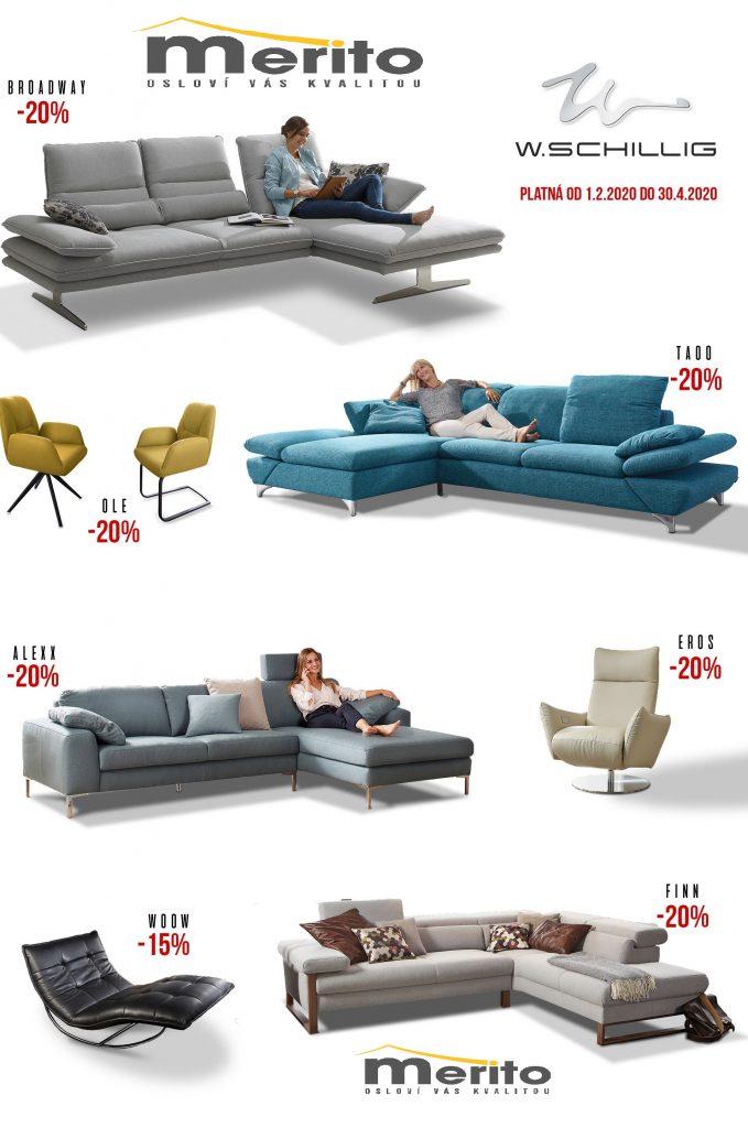 Luxusné sedačky Willi Schilling v Merito s 20% zľavou!