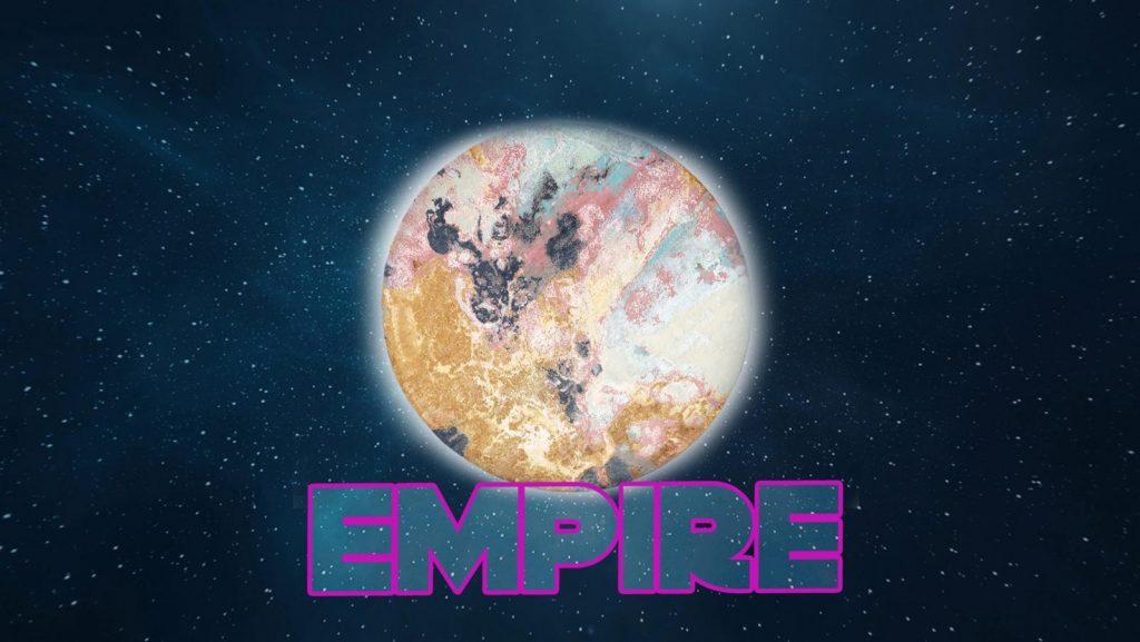 Moderný okrúhly koberec Empire