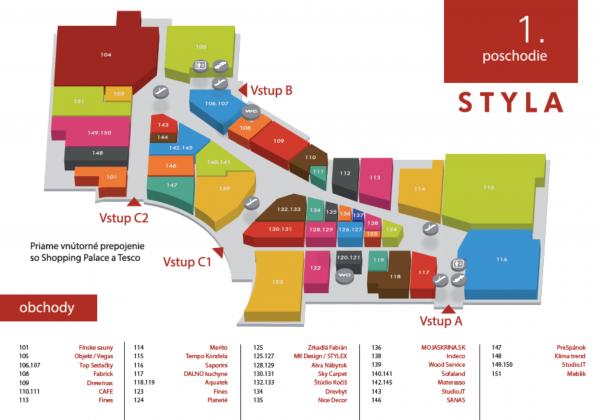 STYLA - mapa Sky Carpet