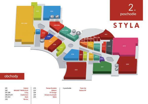 STYLA - mapa Tempo Kondela