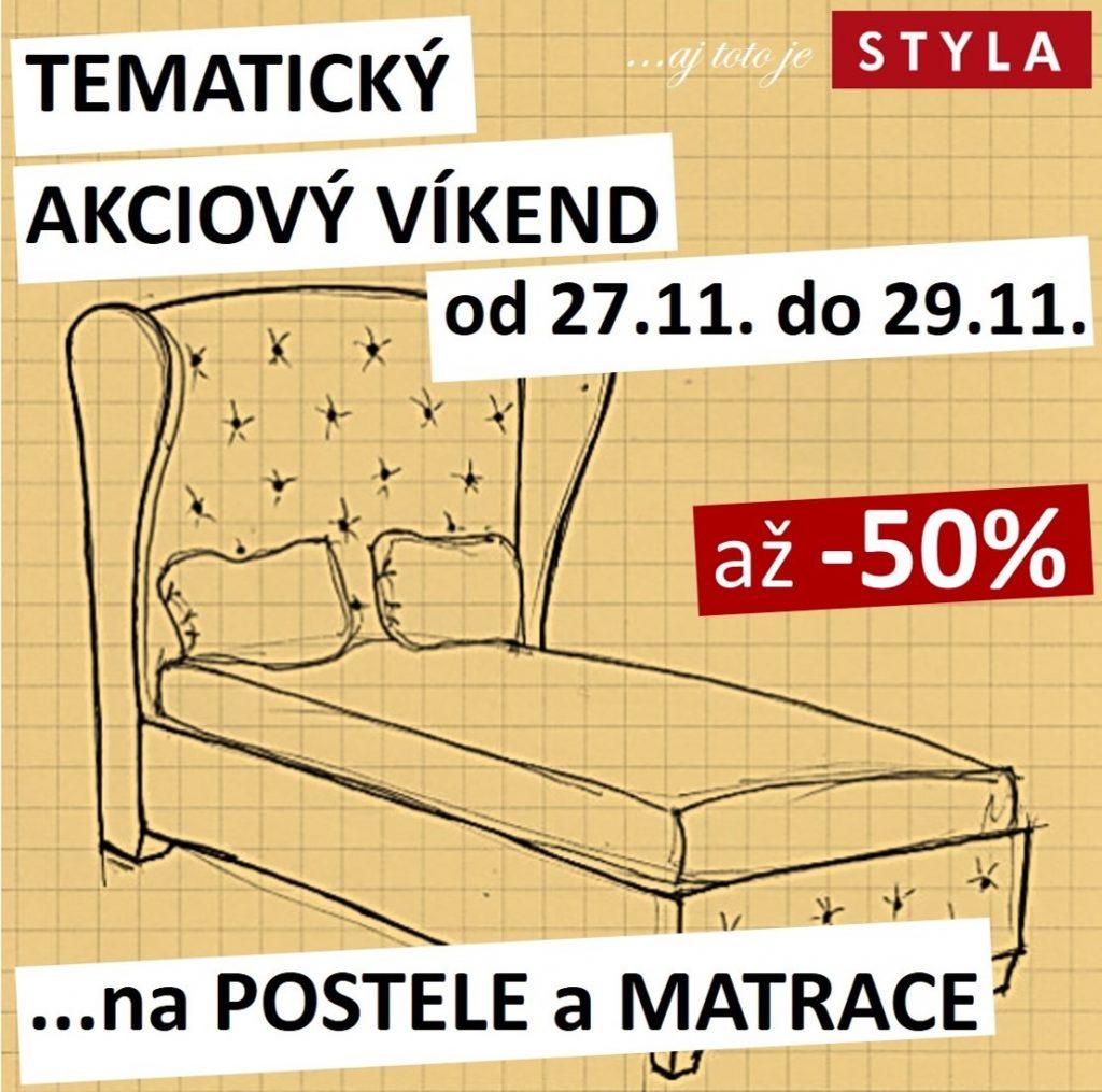 TEMATICKÝ AKCIOVÝ VÍKEND – postele a matrace
